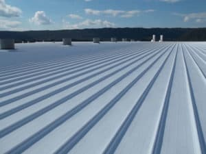 commercial metal roof with coating