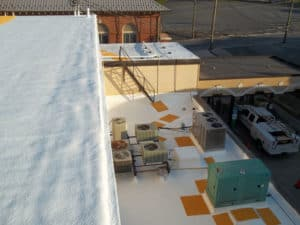 a multi level roof restoration project